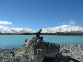 Chilling out at lake Tekapo
