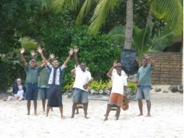 A Fijian welcome to the island