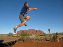 Jack jumped over Ayers Rock