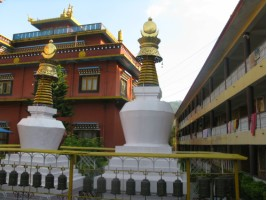 At the Tibetan Refugee Camp and their buddhist monastary