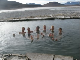 Early morning dip in sub-zero conditions!